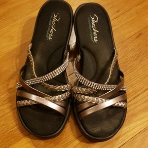 Skechers black dressy sandals (9 wide)